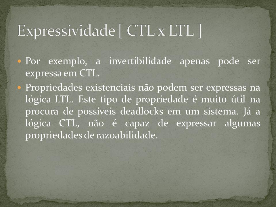 Expressividade [ CTL x LTL ]